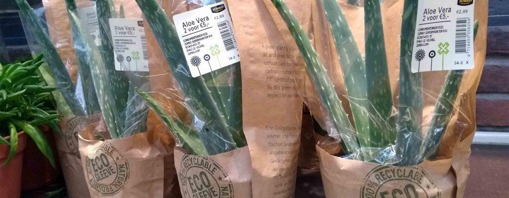 robotag eco verpakking planten
